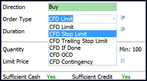 Phillip CFD Platform | Risk Management and Order Types