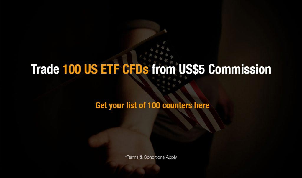 Trade 100 US ETF CFDs from US5 Commission