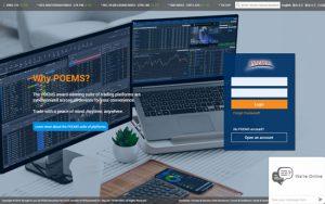 POEMS trading platform login page